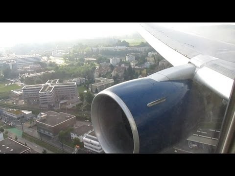 Delta Airlines Boeing 767-300 Smooth Landing in Zurich (Seat 4G)