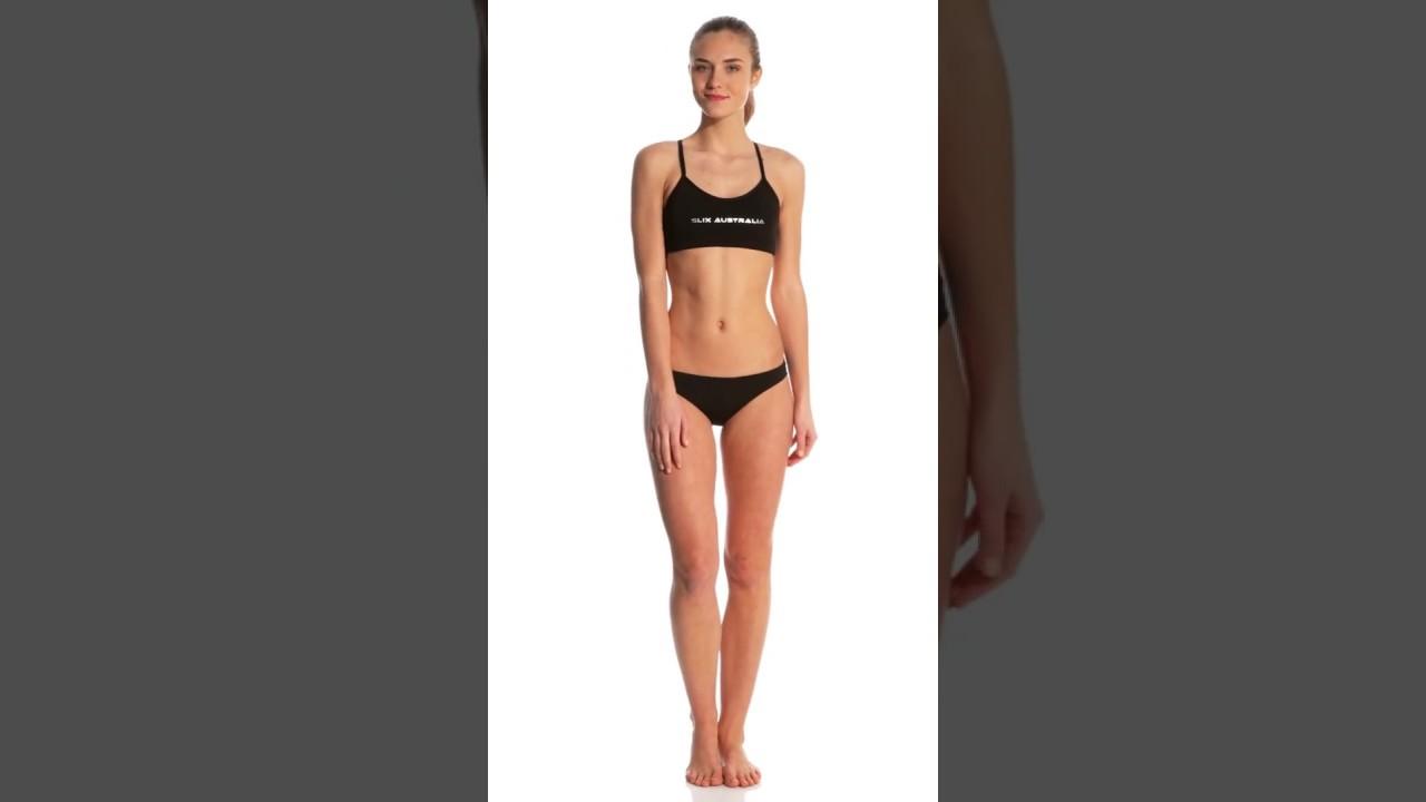 ab219f4d37c976 Slix Australia Women's Back In Black Two Piece Bikini Set | SwimOutlet.com