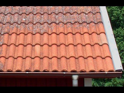 Как я чистил крышу дома от мха Германия 2016 - YouTube