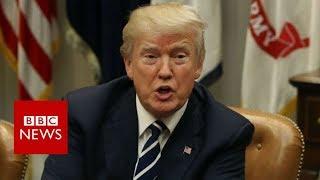 connectYoutube - Trump denies crude slur against migrant countries - BBC News