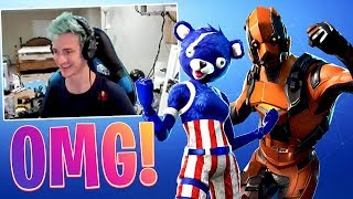 NINJA REACTS TO *NEW* SKINS! *INFINITE DAB, VERTEX, OBLIVION, FIREWORKS TEAM LEADER!* (Fortnite BR)