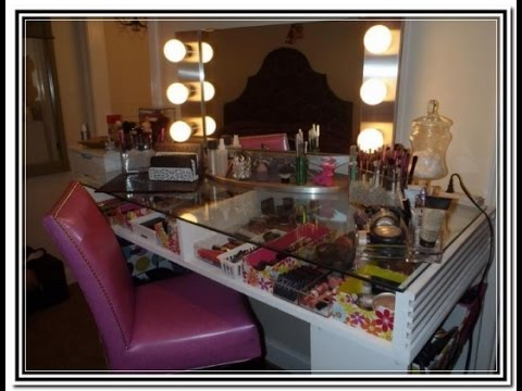Diy makeup vanity table youtube diy makeup vanity table solutioingenieria Image collections