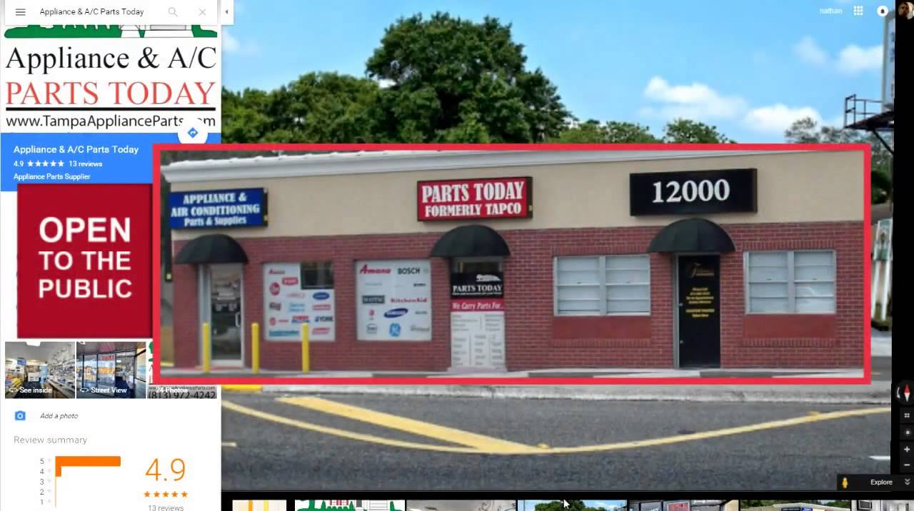 Kenmore Appliance Parts Store In Tampa Youtube