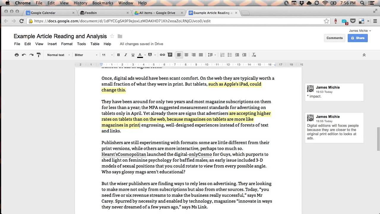 sample annotation of a journal article