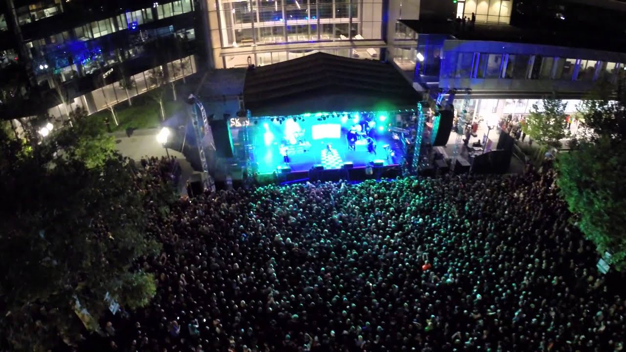 Neon Trees Provo Rooftop Concert Aerial Footage