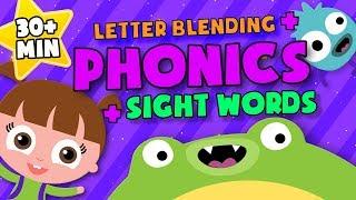 Letter Blending + siġht words + Phonics | READING LESSONS for Kids