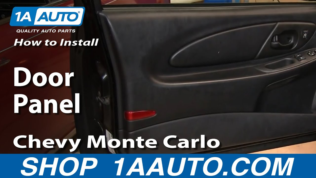how to install remove door panel chevy monte carlo 00 07 youtube. Black Bedroom Furniture Sets. Home Design Ideas