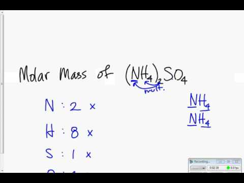 Molar Mass Examples Youtube