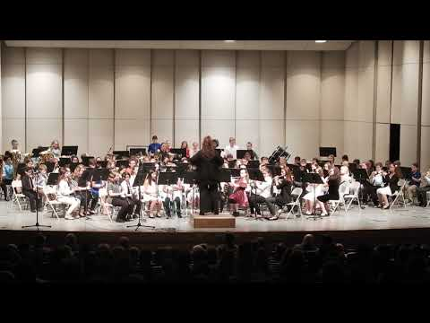 """African Noel"" Norfolk Middle School 6th grade Band 2017"