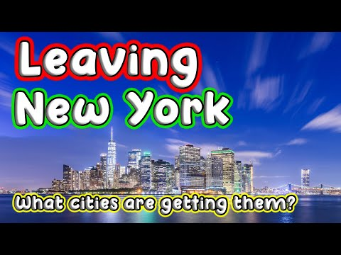 Top 10 Cities New Yorkers are Moving to in the United States.