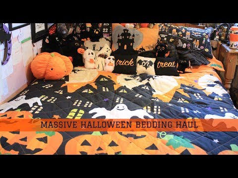 Spookyville Halloween Bedding Haul - Quilt, Duvet, Fitted Sheet And Blankets