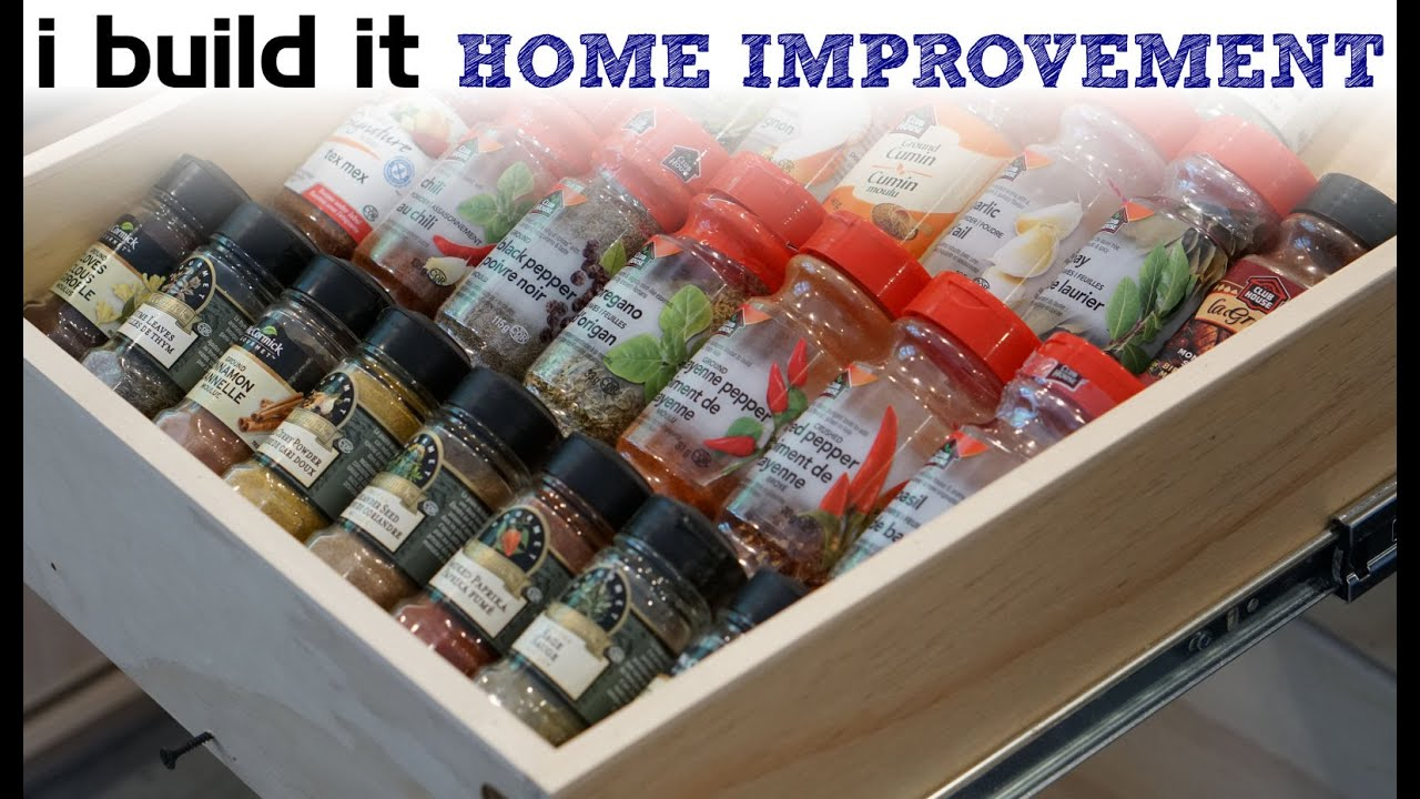 How To Make A Spice Drawer - Kitchen Cabinet Build - YouTube