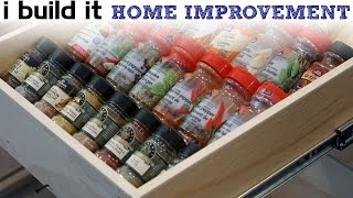 How To Make A Spice Drawer - Kitchen Cabinet Build