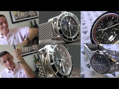 Breitling SuperOcean Heritage 42 & Omega Speedmaster Automatic Schumacher Edition Watch Review