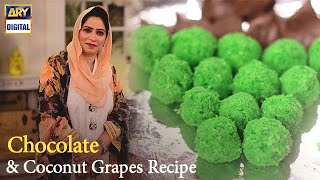 Chocolate &amp Coconut Grapes Recipe  Nida Yasir  Good Morning Pakistan