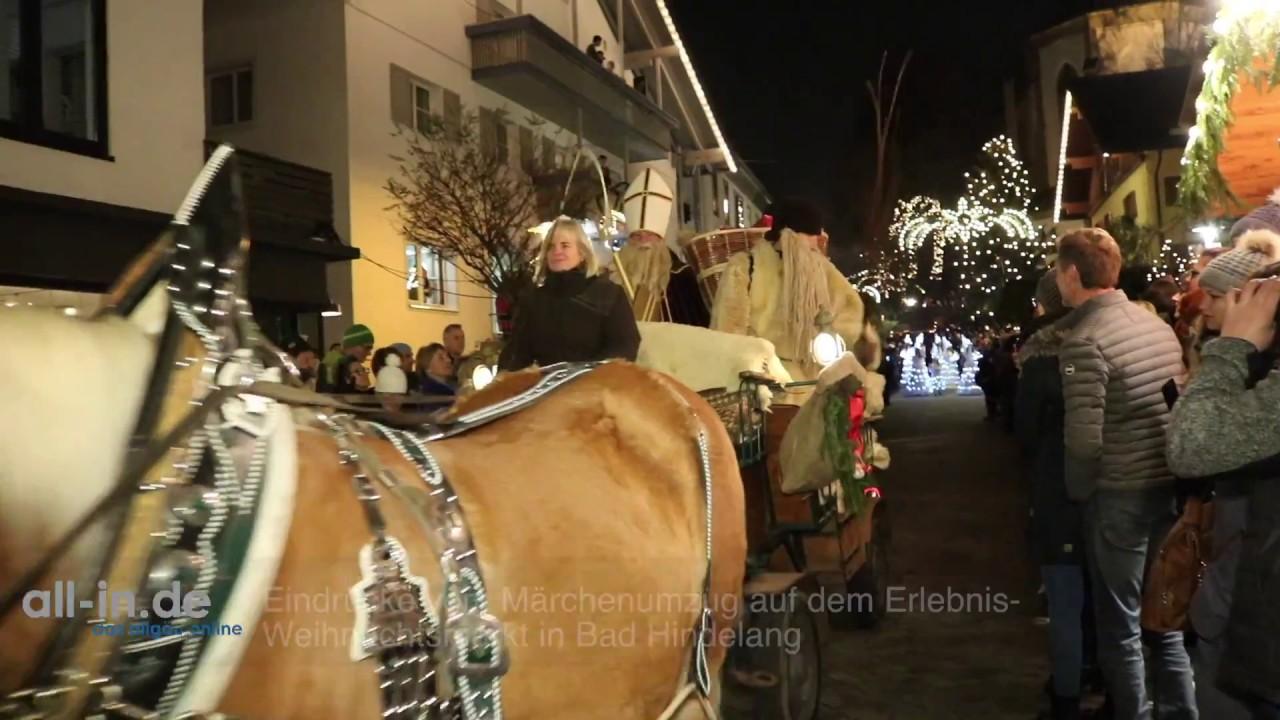 Bad Hindelang Weihnachtsmarkt.Eindrucke Vom Marchenumzug Auf Dem Erlebnis Weihnachtsmarkt In Bad Hindelang