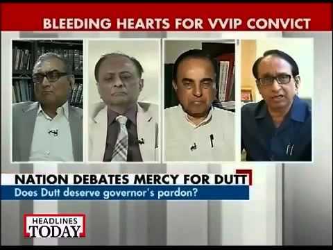 Dr Subramanian Swamy debates Justice Katju on Sanjay Dutt 1993 Mumbai Blast case