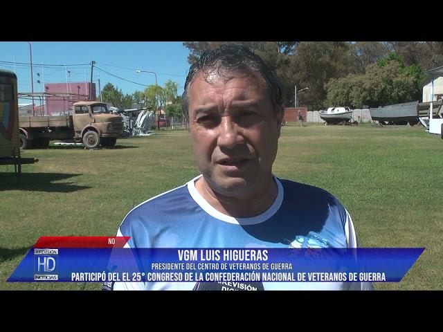 Luis Higueras  Participó del 25º Congresa de la Confederación de Veteranos de Guerra