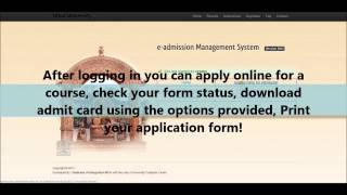 Instruction Manual for online admission 2013-14, Utkal University
