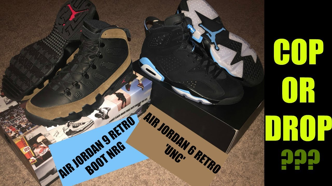 best service bf875 5add3 Air Jordan 9 Retro Boot NRG Olive & Air Jordan 6 'UNC' SOLD OUT!!
