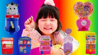 プリキュア きかんしゃトーマス 大量の食玩を食べてみた finger family funny baby candy toy thumbnail
