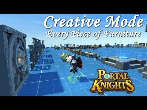 Portal Knights ALL NEW FURNITURE in CREATIVE MODE Version 1.4