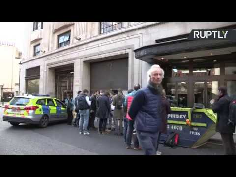 LIVE: Outside Sony HQ in London after reported stabbing. Mp3