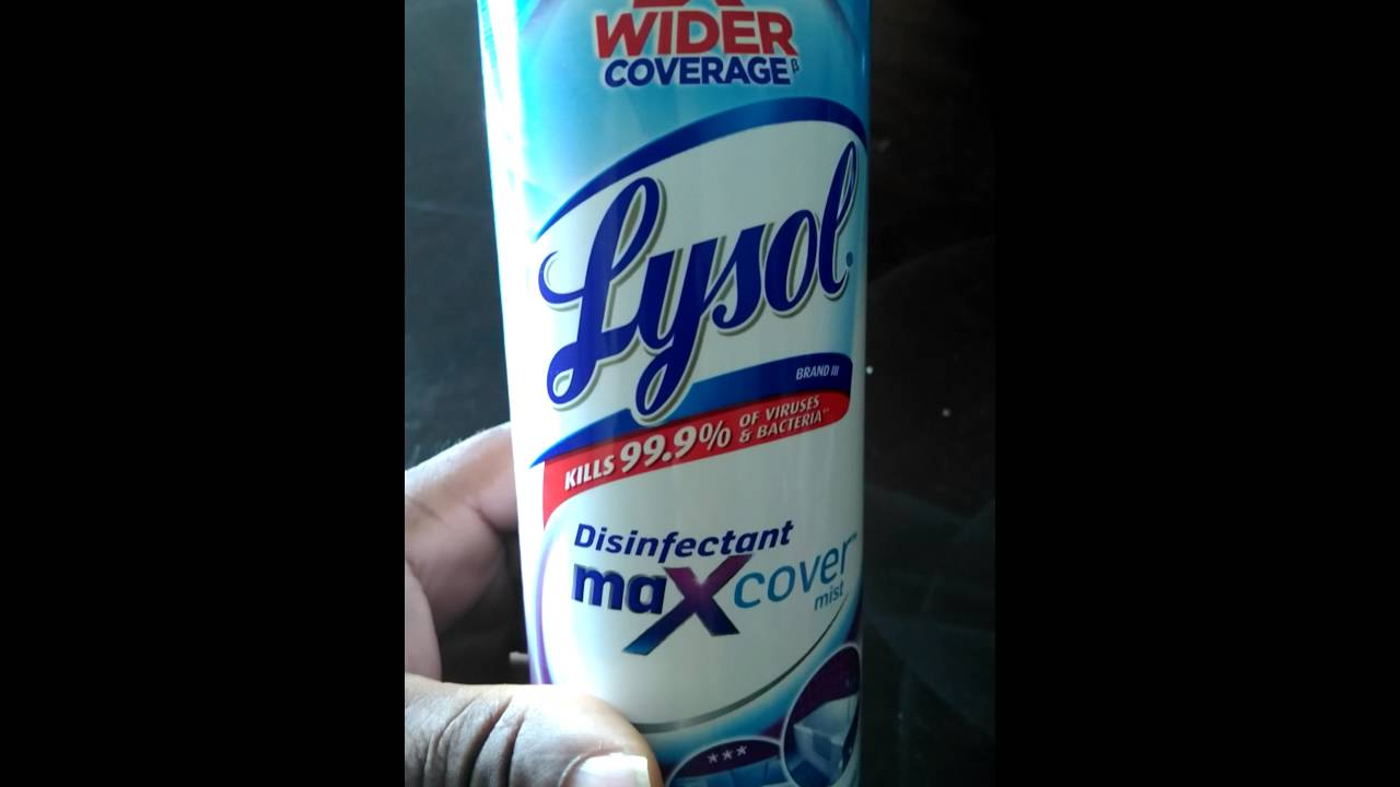 Killing athletes foot in minutes with Lysols Disinfectant Maxcover