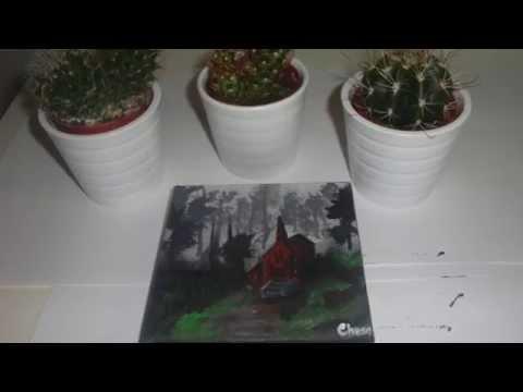 Mini forest landscape acrylic painting