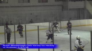 Acton Boxborough Girls Ice Hockey vs Andover 1/27/16