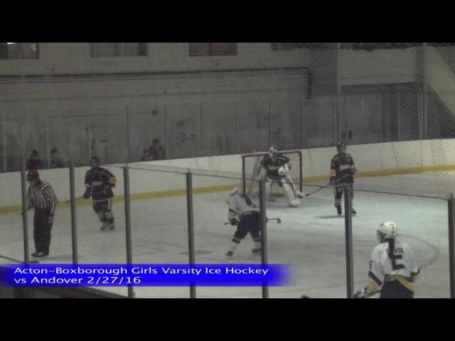 Acton Boxborough Girls Ice Hockey vs Andover 1/27/16
