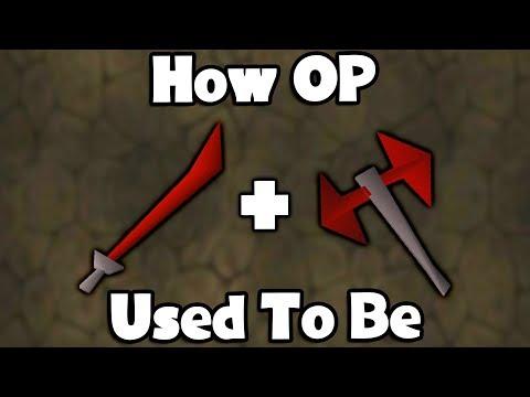 How OP Dragon Longsword + Battleaxe Used To Be - OSRS 2002