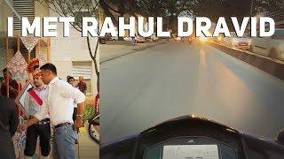 The 1st  motovlog | Met Rahul Dravid | glimpse of Indiranagar | BIY