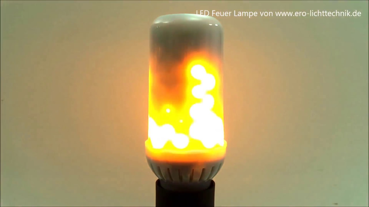 led feuer lampe fire lamp fackel effekt von ero lichttechnik youtube. Black Bedroom Furniture Sets. Home Design Ideas