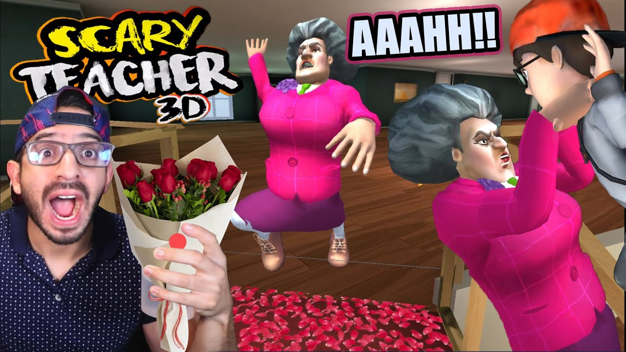 BROMA CON ROSAS A LA MAESTRA LOCA | Scary Teacher 3D Capitulo 14 | Juegos Luky
