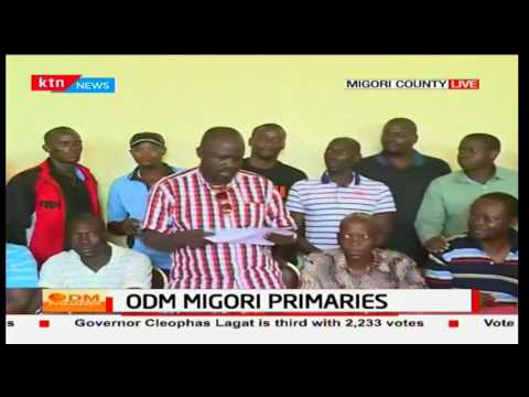 Migori County gubernatorial Aspirant pulls out ODM nomination certificate after losing race