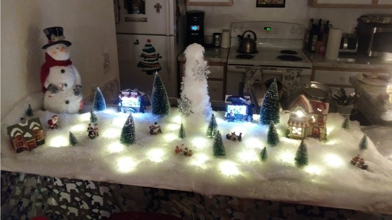 what to get in setting up a christmas village affordable way
