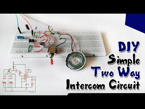 DIY Simple Two Way Intercom Circuit