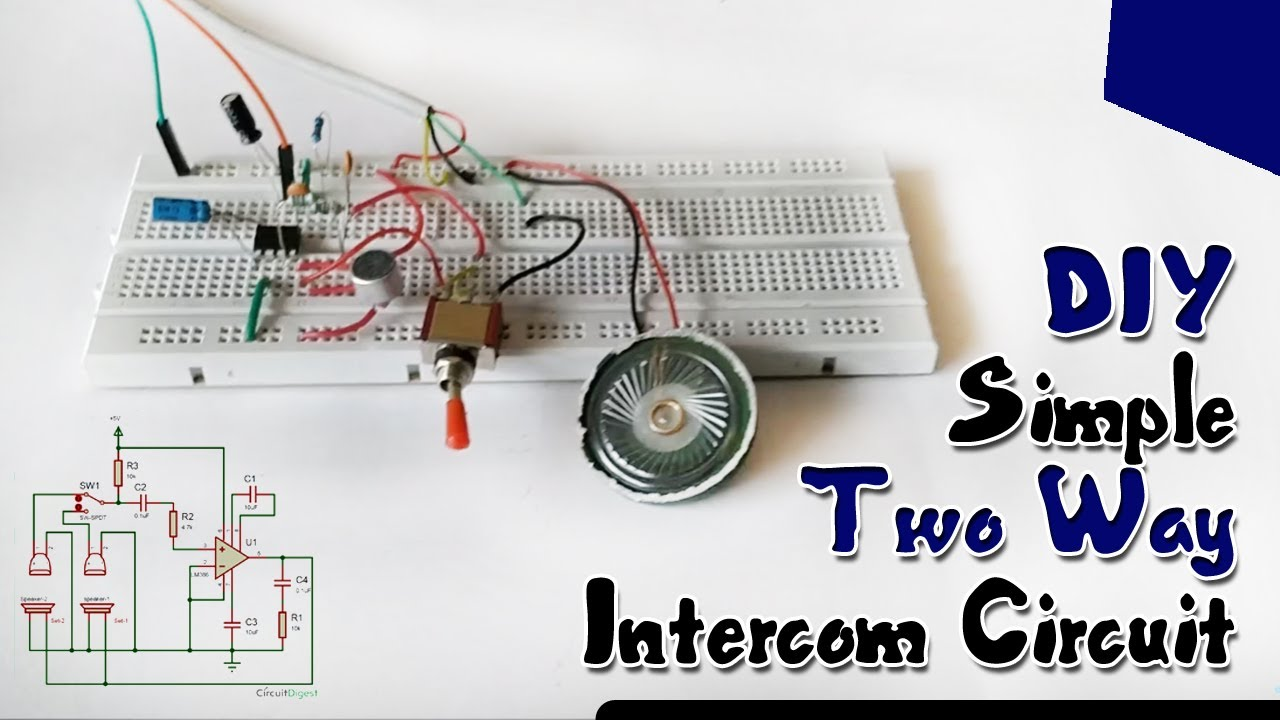 Diy Simple Two Way Intercom Circuit Youtube Lm386 As Multipurpose Radio Diagram Audiocircuit