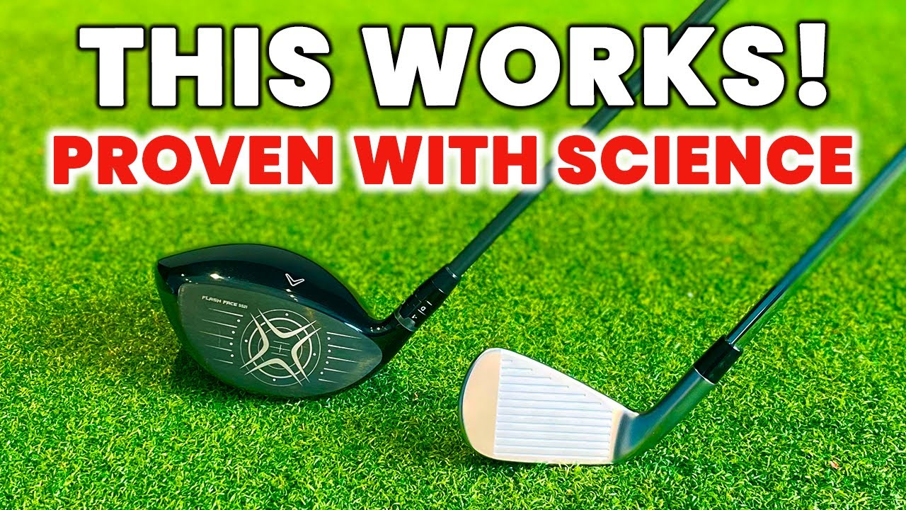 Swing SLOWER but hit the golf ball FURTHER - This Just Works!