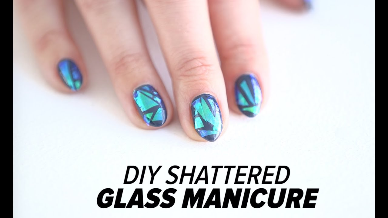 Diy shattered glass nail art tutorial beauty junkie youtube solutioingenieria Images