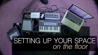 Workspace vs. Jam Space | Floor Setup vlog