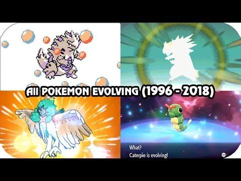 Evolution of Pokémon Evolving Animations (1996 - 2018)