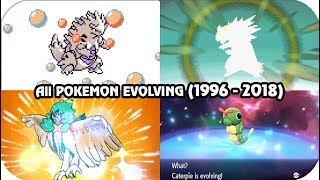 Evolution of Pokémon Evolving Animations (1996 - 2018)