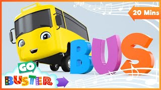 I Am Buster   Busters Rhymes!   Go Buster   Baby Cartoons   Kids Videos   ABCs and 123s