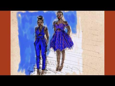 fashion-sketching-african-print-dresses-on-ipad-using-repaper-app-on-ipad-pro