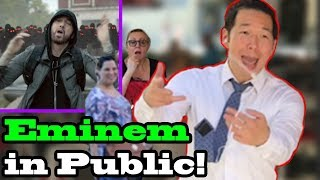 EMINEM, Joyner Lucas - 'LUCKY YOU' - SINGING IN PUBLIC!!