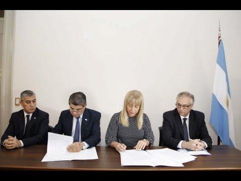 Firma convenio entre el Siprosa y el Ministerio de Seguridad