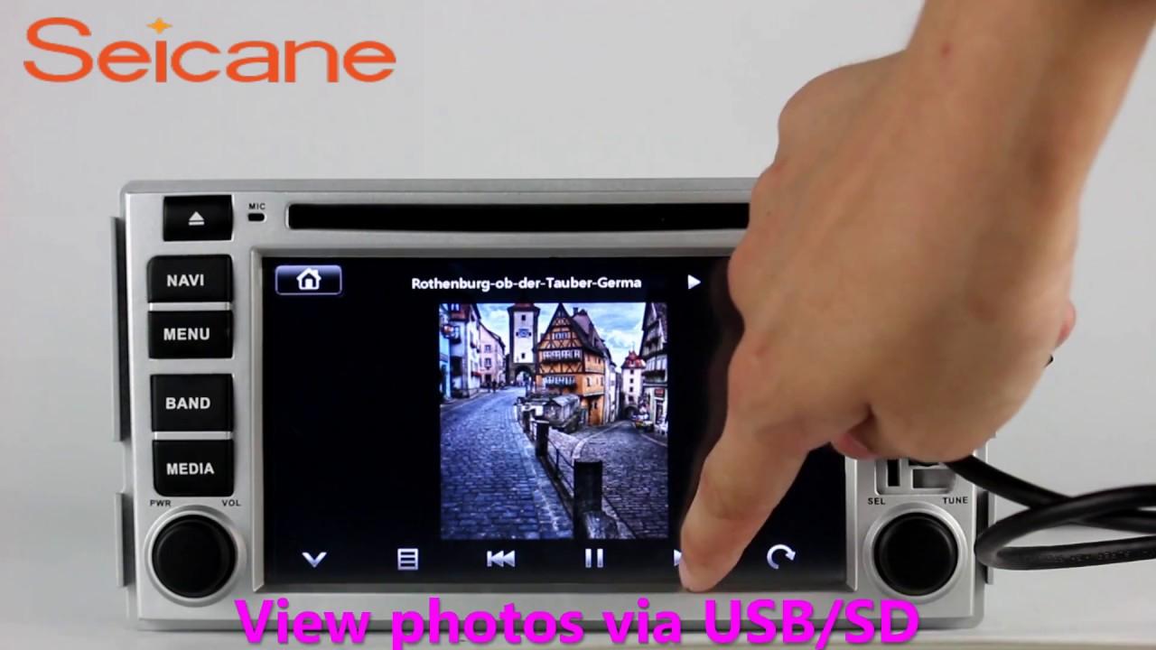 Oem 2006 2012 Hyundai Santa Fe Aftermarket Radio Dvd Gps Navigation Wiring Diagram Support 1080p Video
