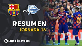 Highlights FC Barcelona vs Deportivo Alavés (4-1)